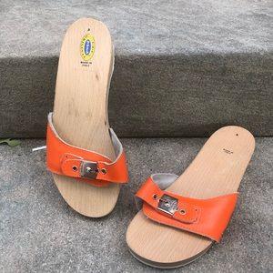 Dr. Scholls Vintage Wooden Sandals Size 8